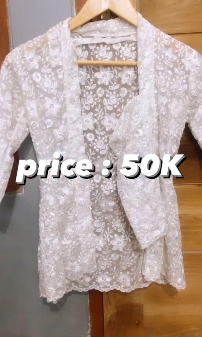 kebaya putih (preloved)