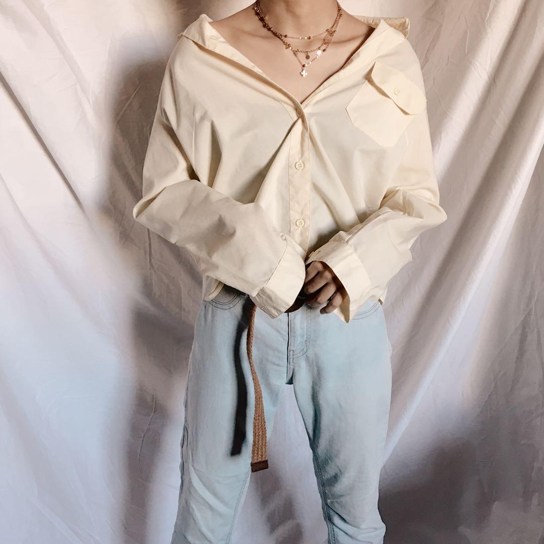 Kemeja Atasan Baju Wanita Kuning Kerja