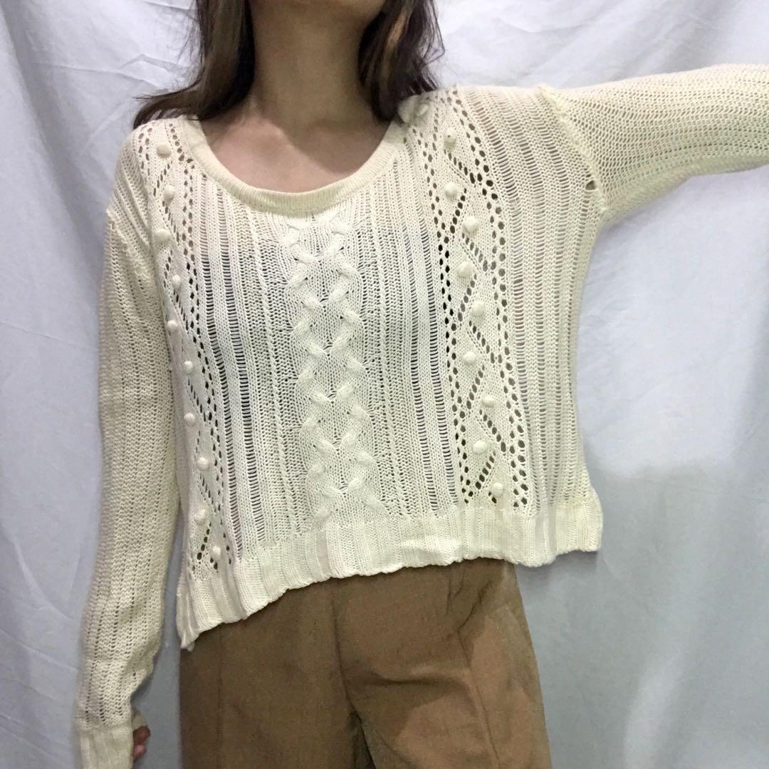 Knit Sweater rajut cutie blonde