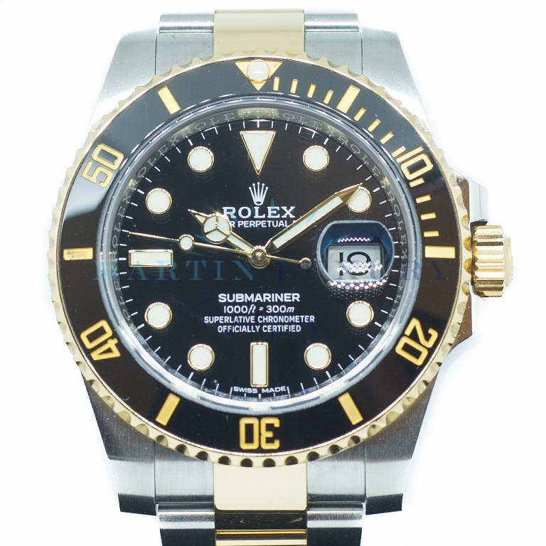 Like New Rolex Submariner Date in 18K Yellow Gold/ Steel Ref: 116613LN