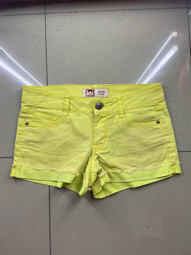 lime yellow hot pants