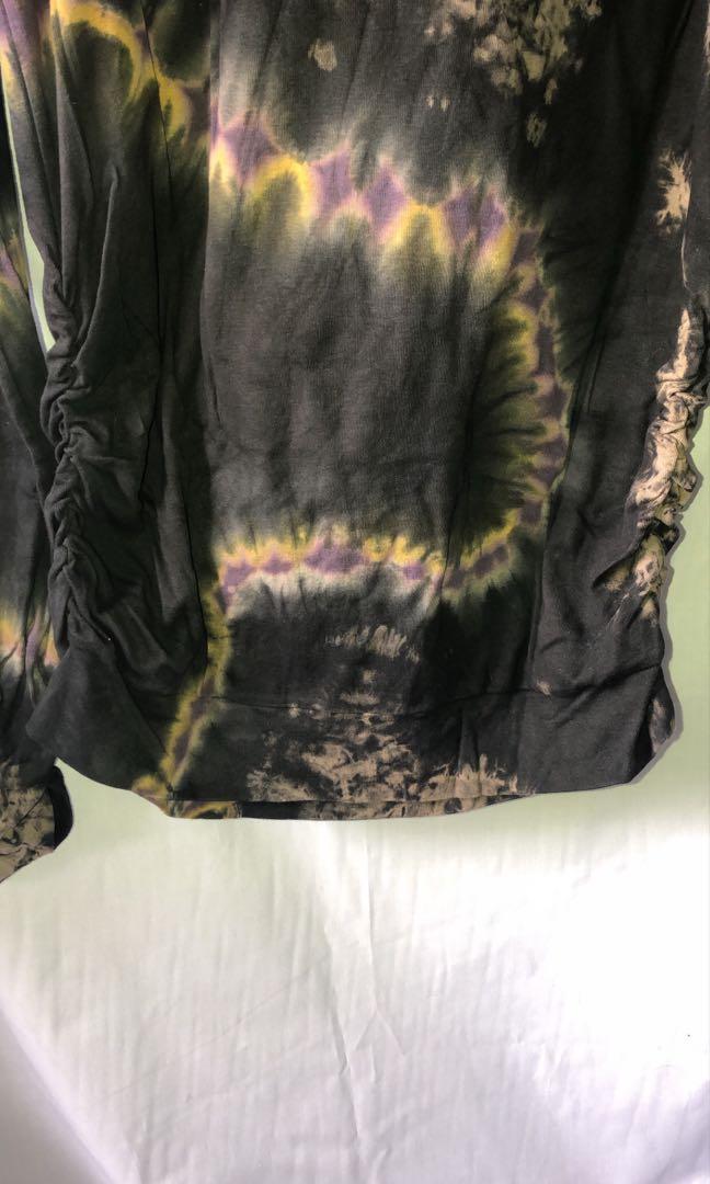 long top tie dye