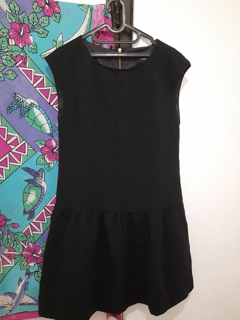Mango Black Mini Dress