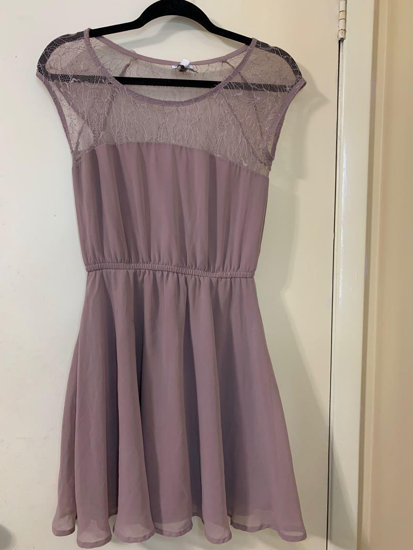 Mauve Mini Dress (size small)