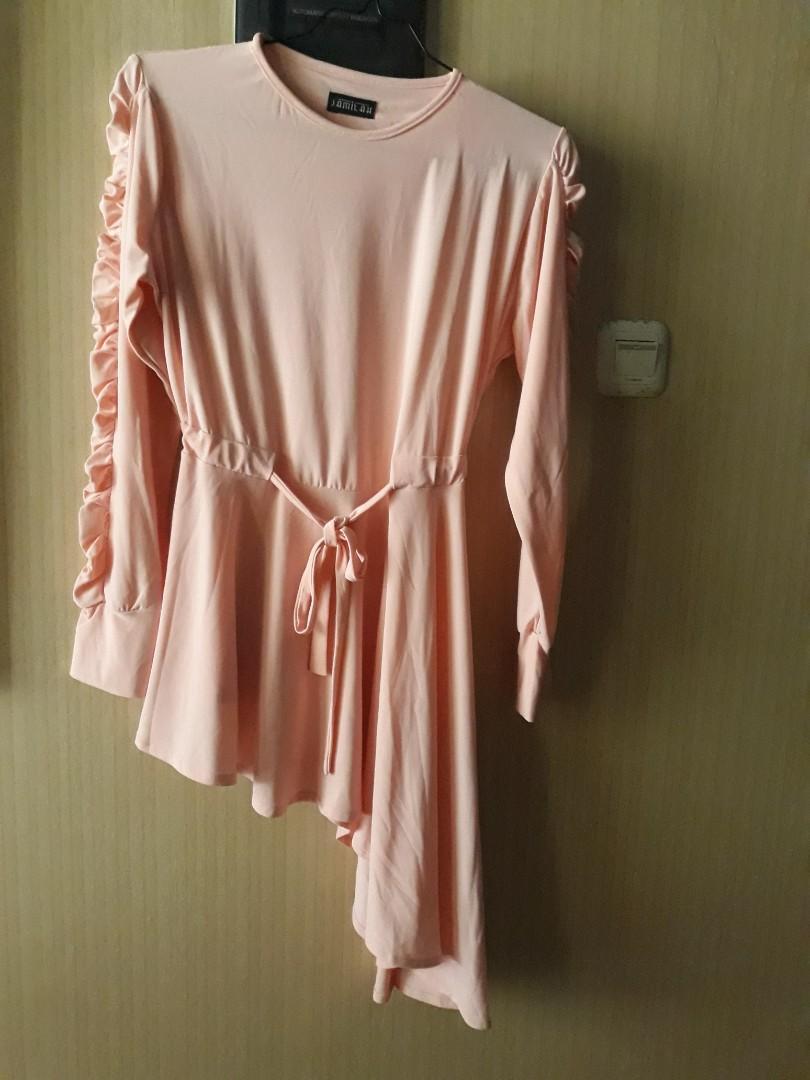 Mididress blouse jersey