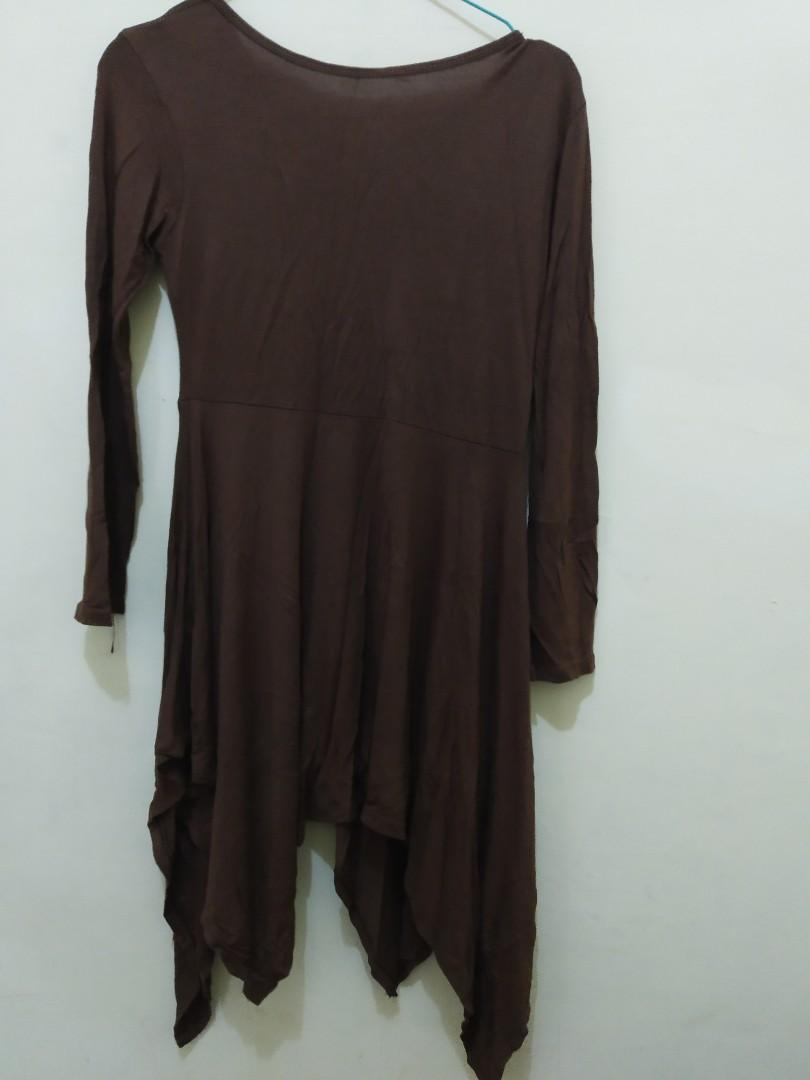 Mididress coklat