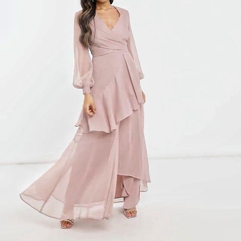 Mink maxi dress size 8