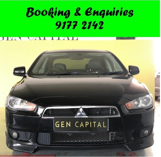 Mitsubishi Lancer EX. $500 deposit only. Whatsapp 9177 2142 to reserve.Cheap Car Rental. Cheap Car. Budget car. Weekend Rental. Daily Rental