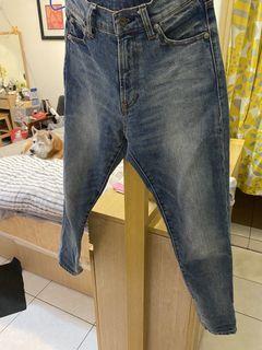 Muji Labo  日本素材丹寧錐型褲 23吋
