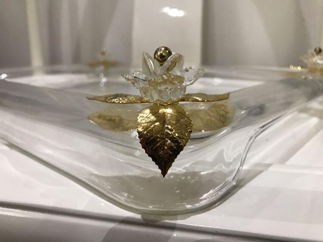 Nampan Crystal Italy - Italian Crystal Tray