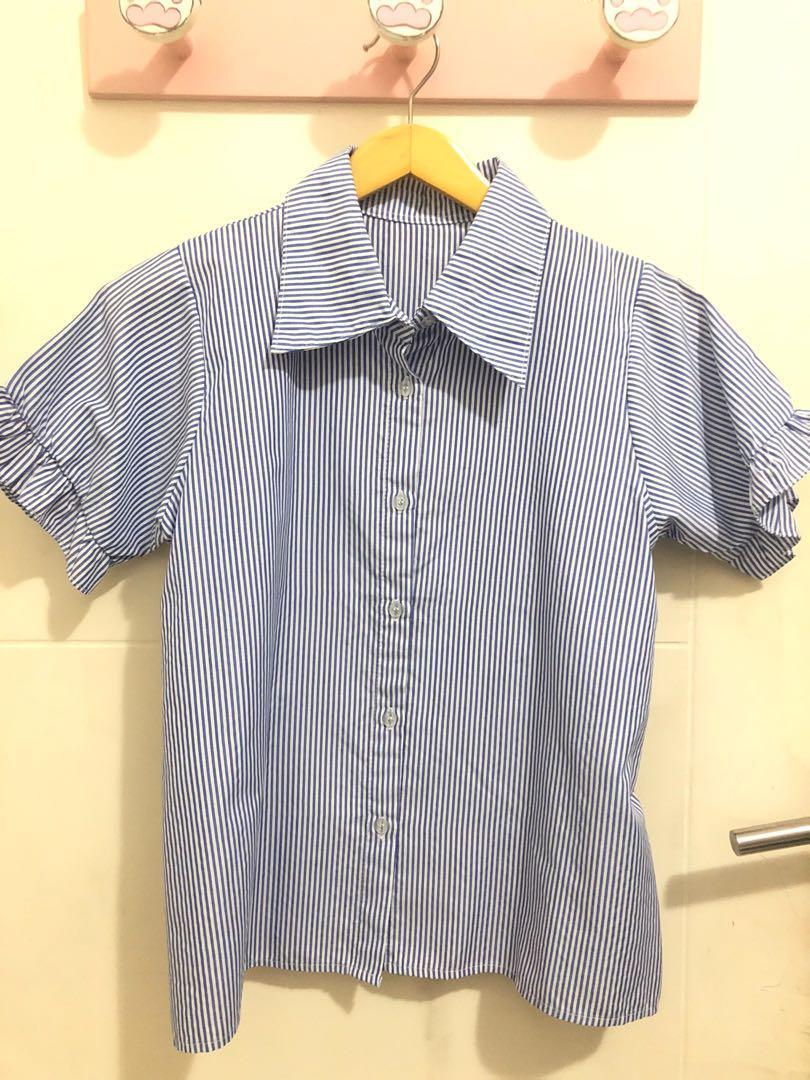 New blue stripes shirt