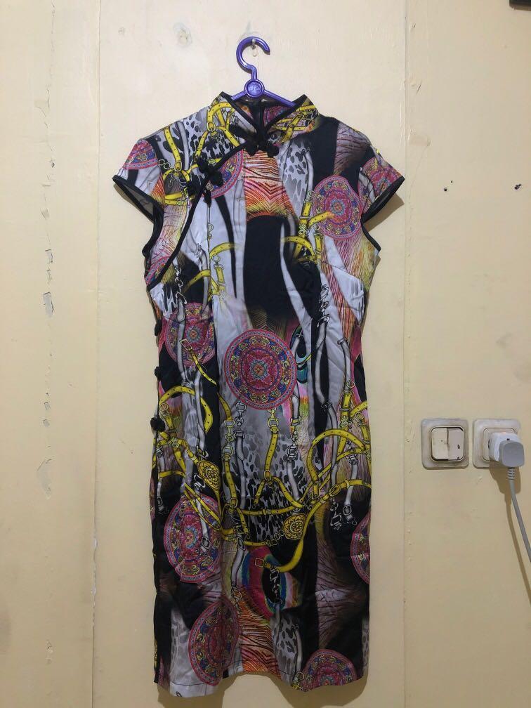 New dress cheongsam baru chinese qipao hitam