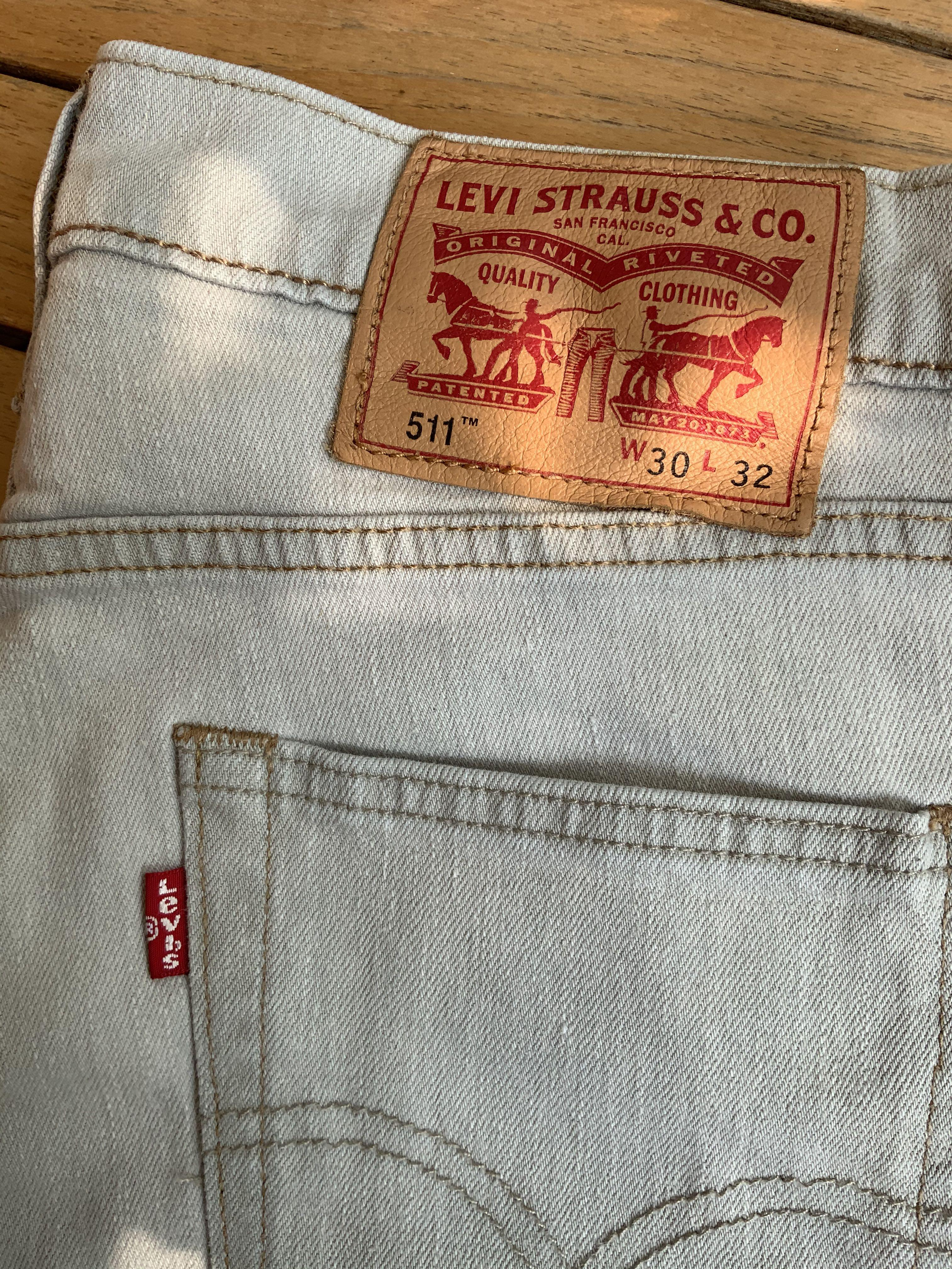 NEW light grey Levi's 511 jeans(waist 30/length 32)
