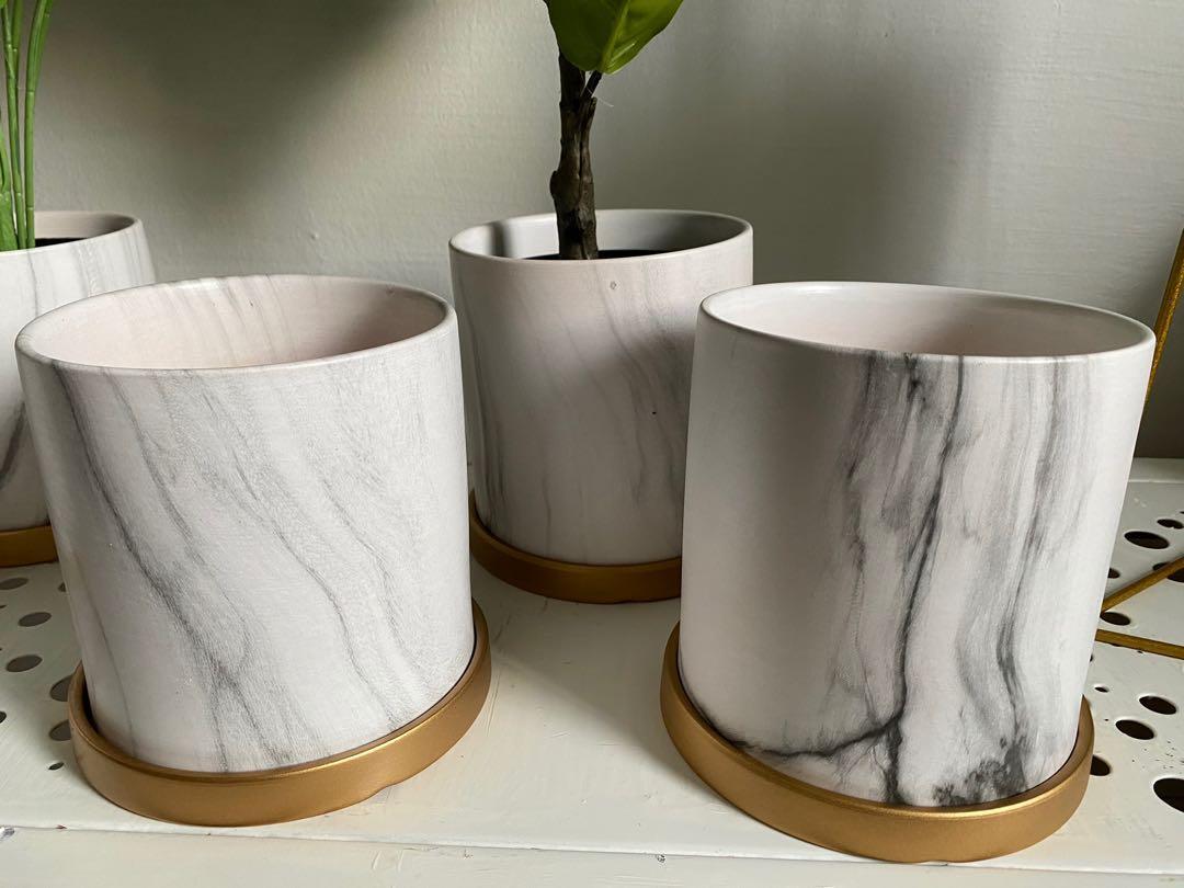 New 'Marble ' ceramic pots