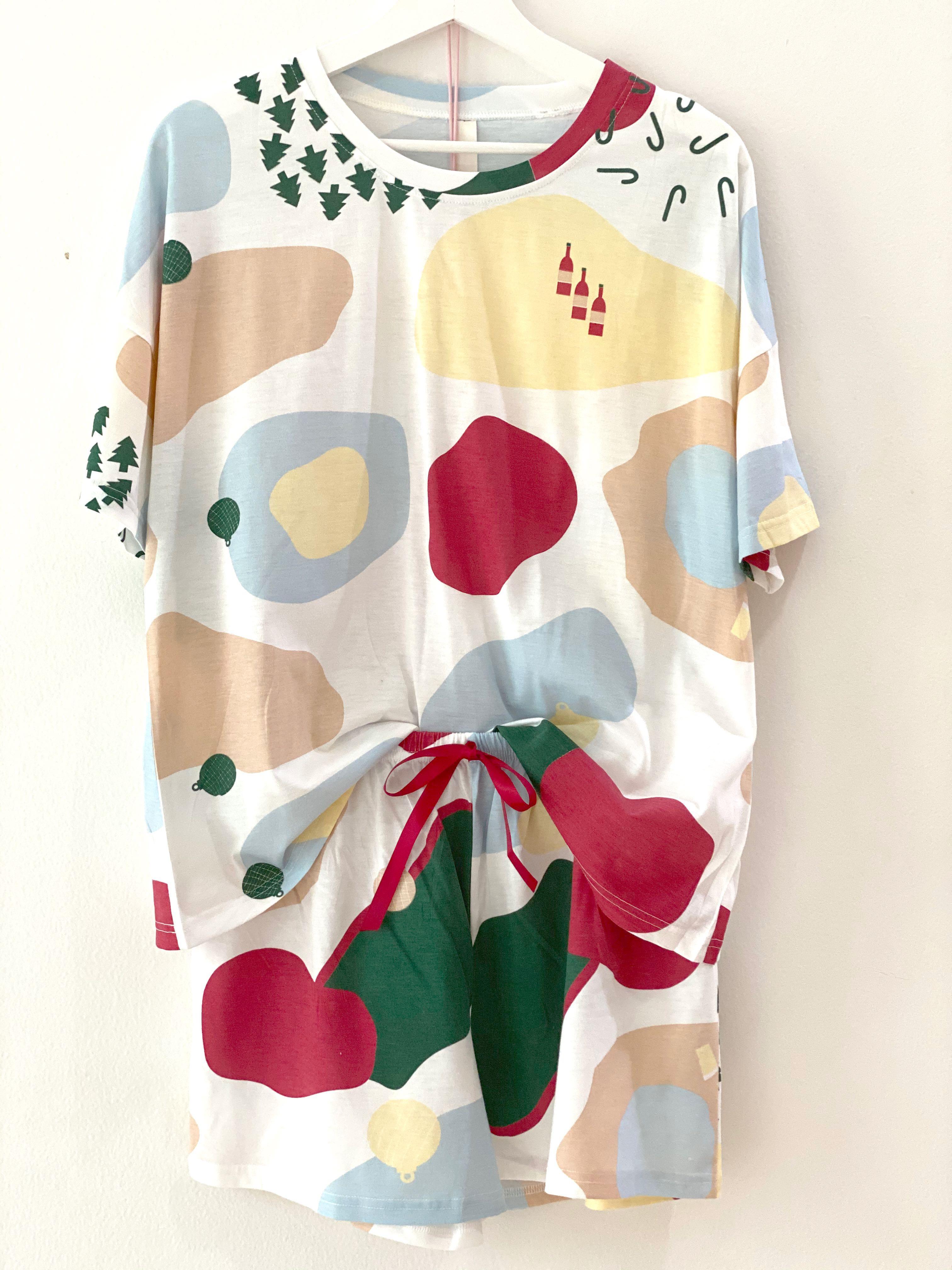 NEW Setelan Baju Tidur Celana Pendek