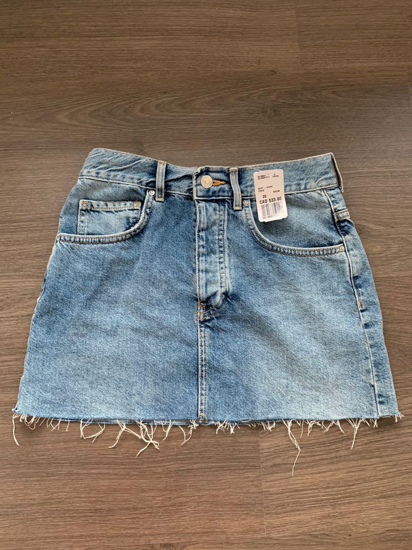 NEW WITH TAG Forever 21 denim miniskirt size 26