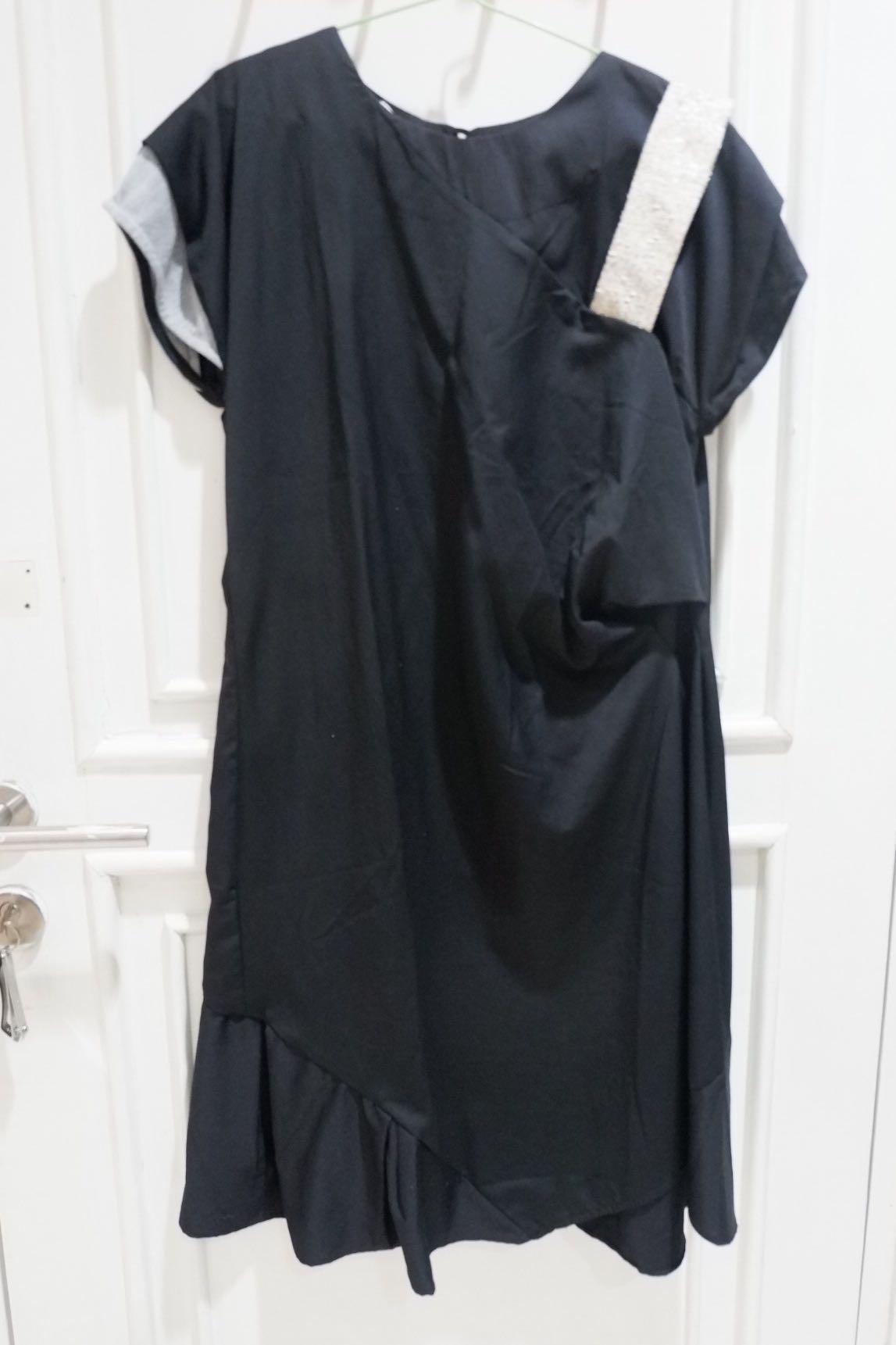 Oline Workrobe x papercut asymmetric dress