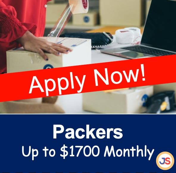 Packers Needed (Up to $1700/month)