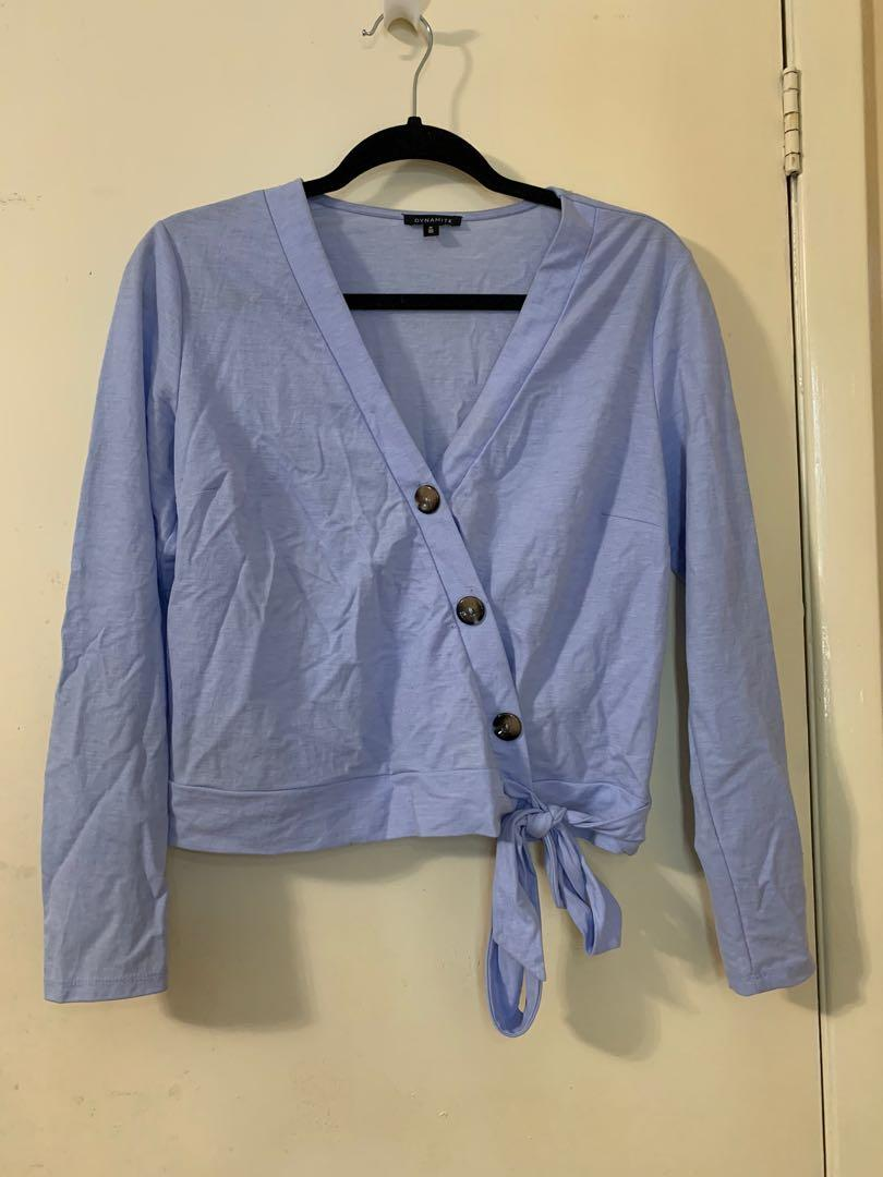 Pastel Blue Blouse (Medium)