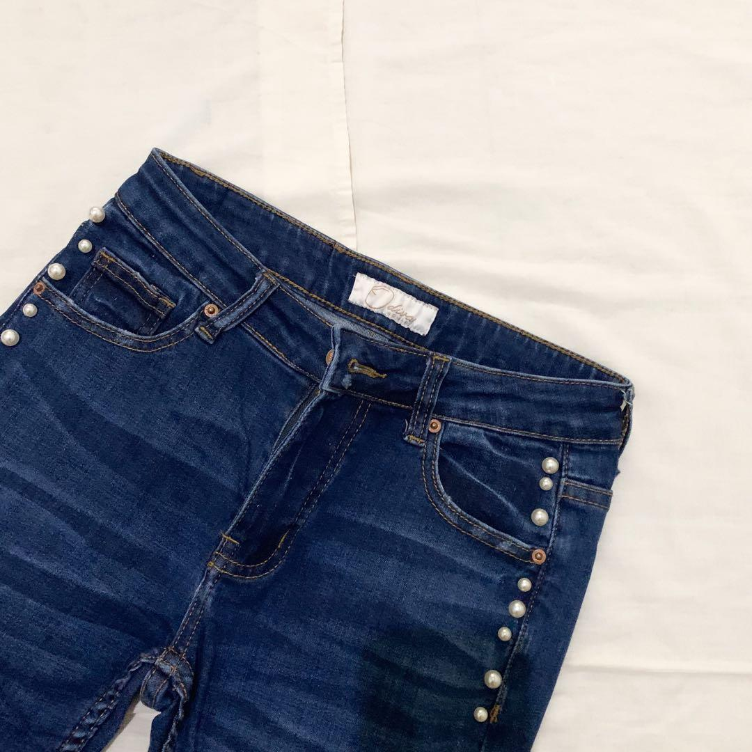 Pearl highwaist jeans unfinished