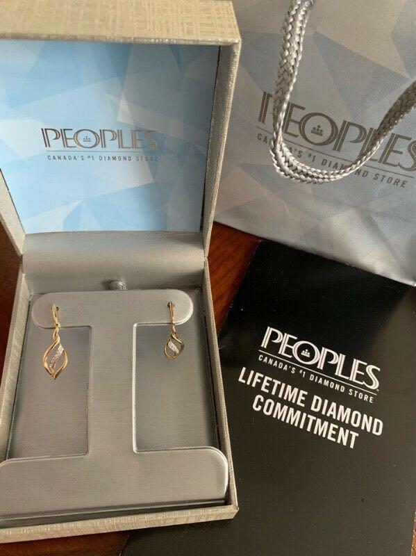 People's 10 KYG Diamond Earrings