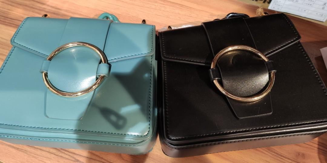 PERDO新加坡春夏新款pedro包女士單肩包金屬圓環飾翻蓋手提包亞克力鏈條小包