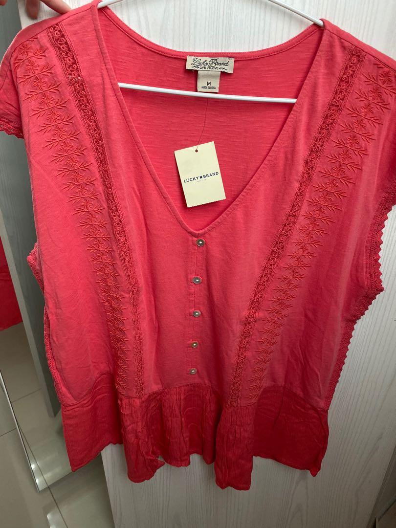 Pink shirt beach