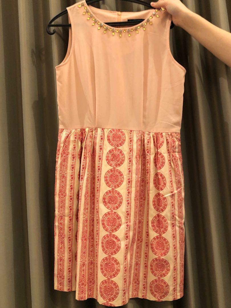 Pink Tribal Dress