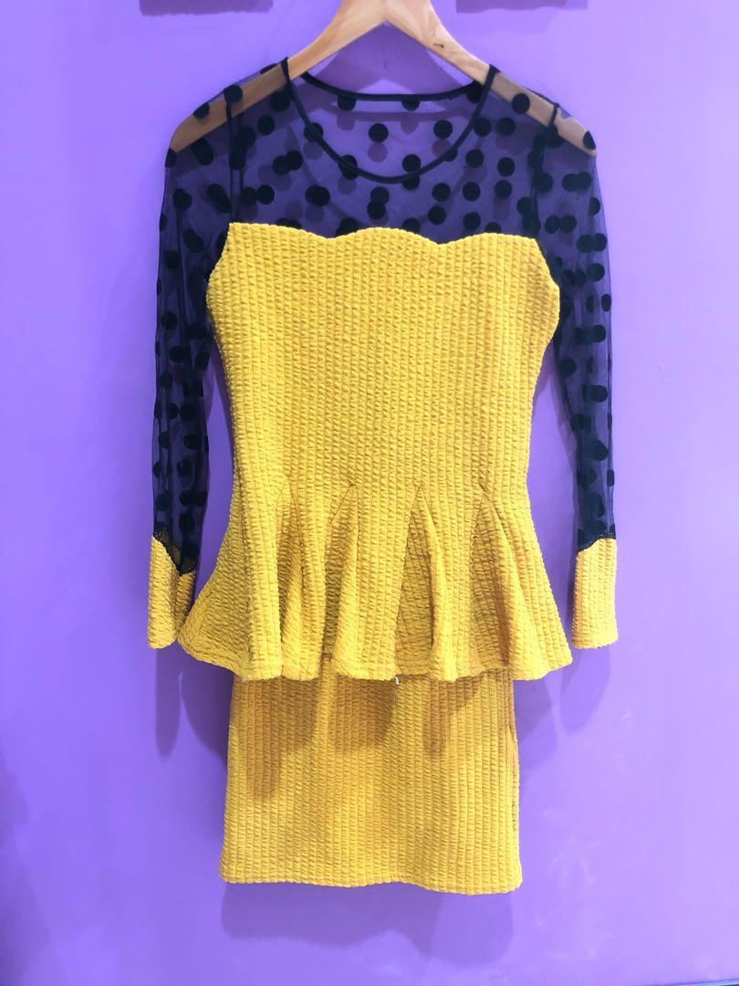 Polka mustrad dress
