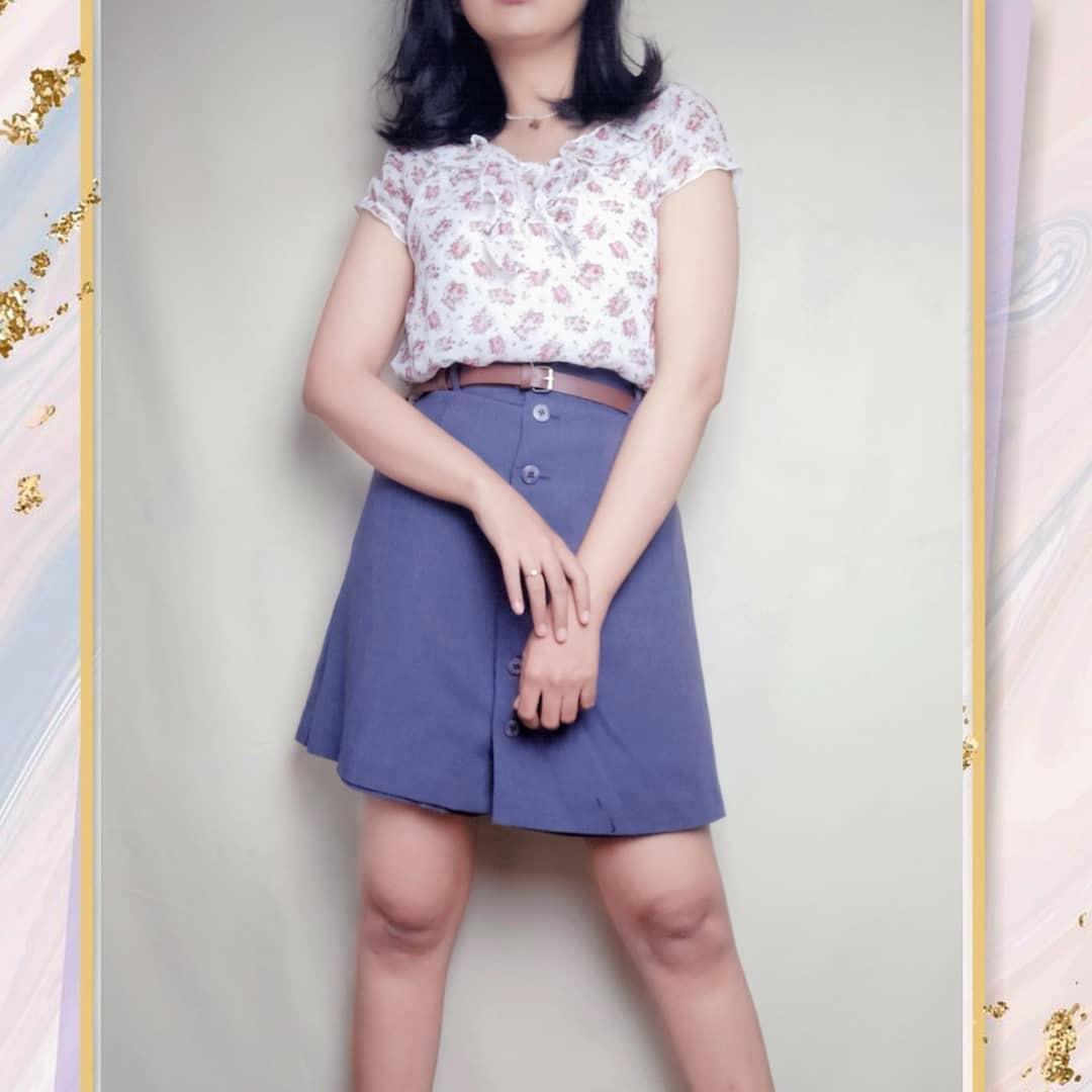 Preloved Thrift Baju Atasan Outer Outerwear Blouse Motif Floral Flower Bunga Cewek Wanita Murah Vintage Korea Retro Bohemian Boho Summer Tropical Casual Formal