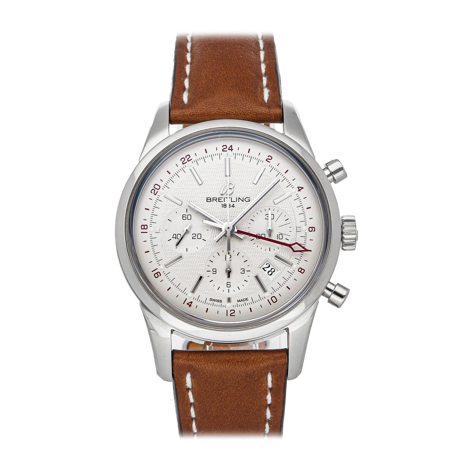 Pre-Owned Breitling Transocean Chronograph GMT Limited Edition AB045112/G772
