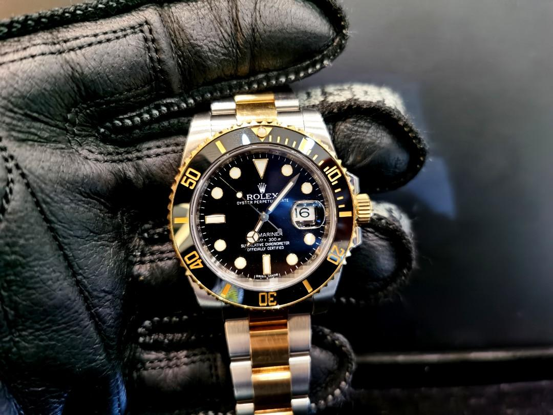 PREOWNED ROLEX SUBMARINER, 116613 LN, Rolesor, Yellow Gold and Oystersteel, 40mm, Alphanumeric Series @  Year 2012 Mens Watch