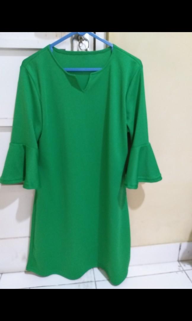 #promodressaja dress hijau scuba