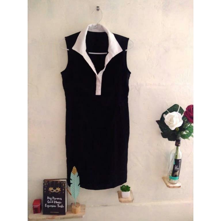 #promodressaja Dress Hitam Putih