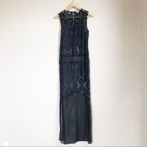 #promodressaja Maxi Dress Lace Hitam - Juicy Couture