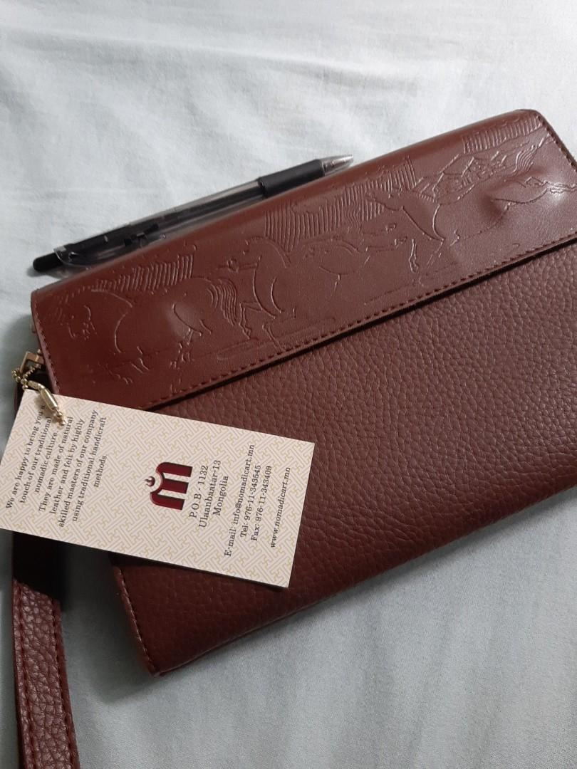 Pure leather clutch