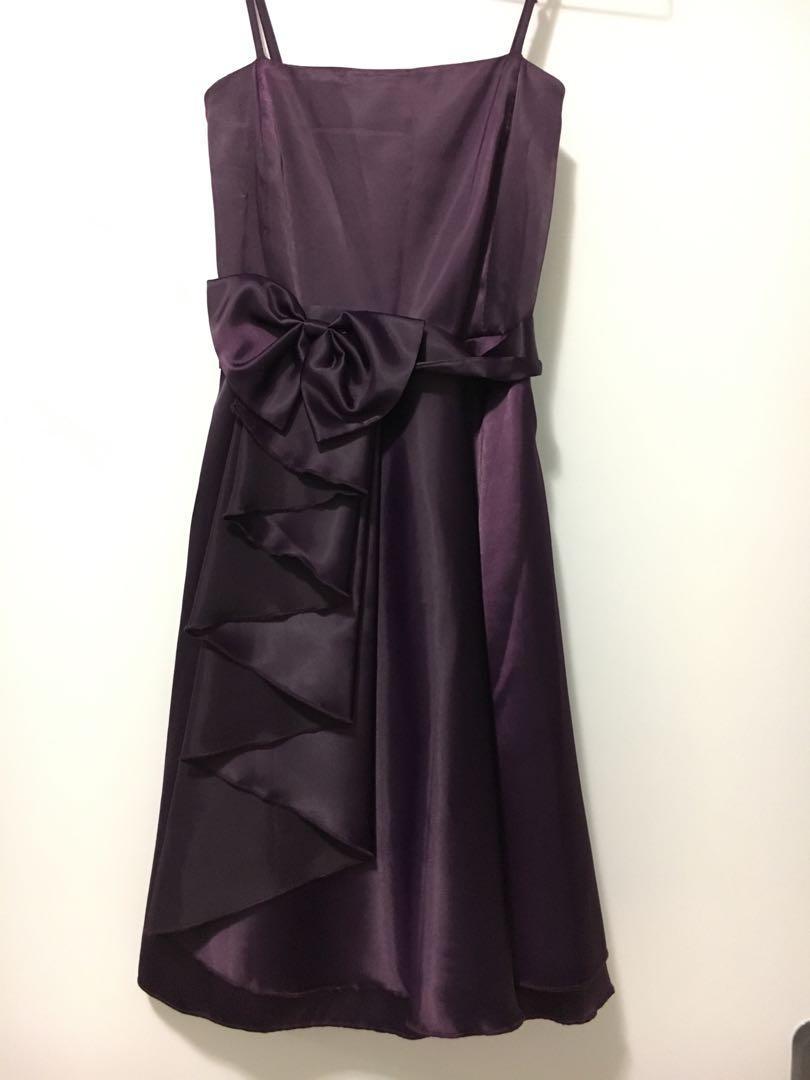 Purple Silky Dress