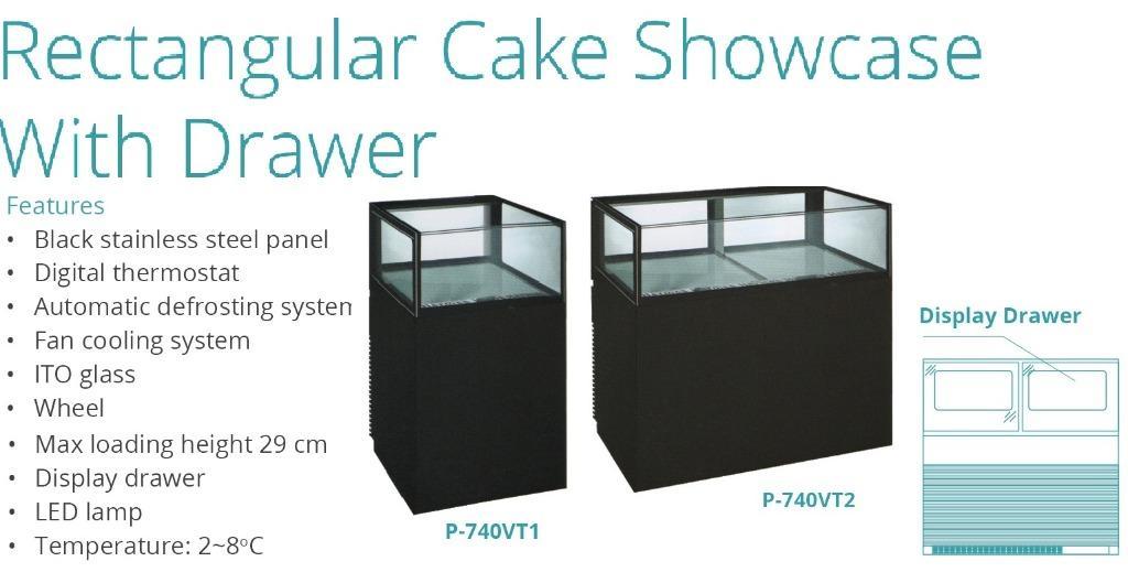 RECTANGULAR CAKE SHOWCASE WITH DRAWER(P-720VT1)