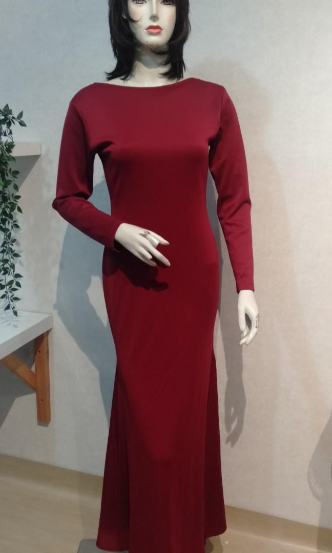 Red Dress longdress simple