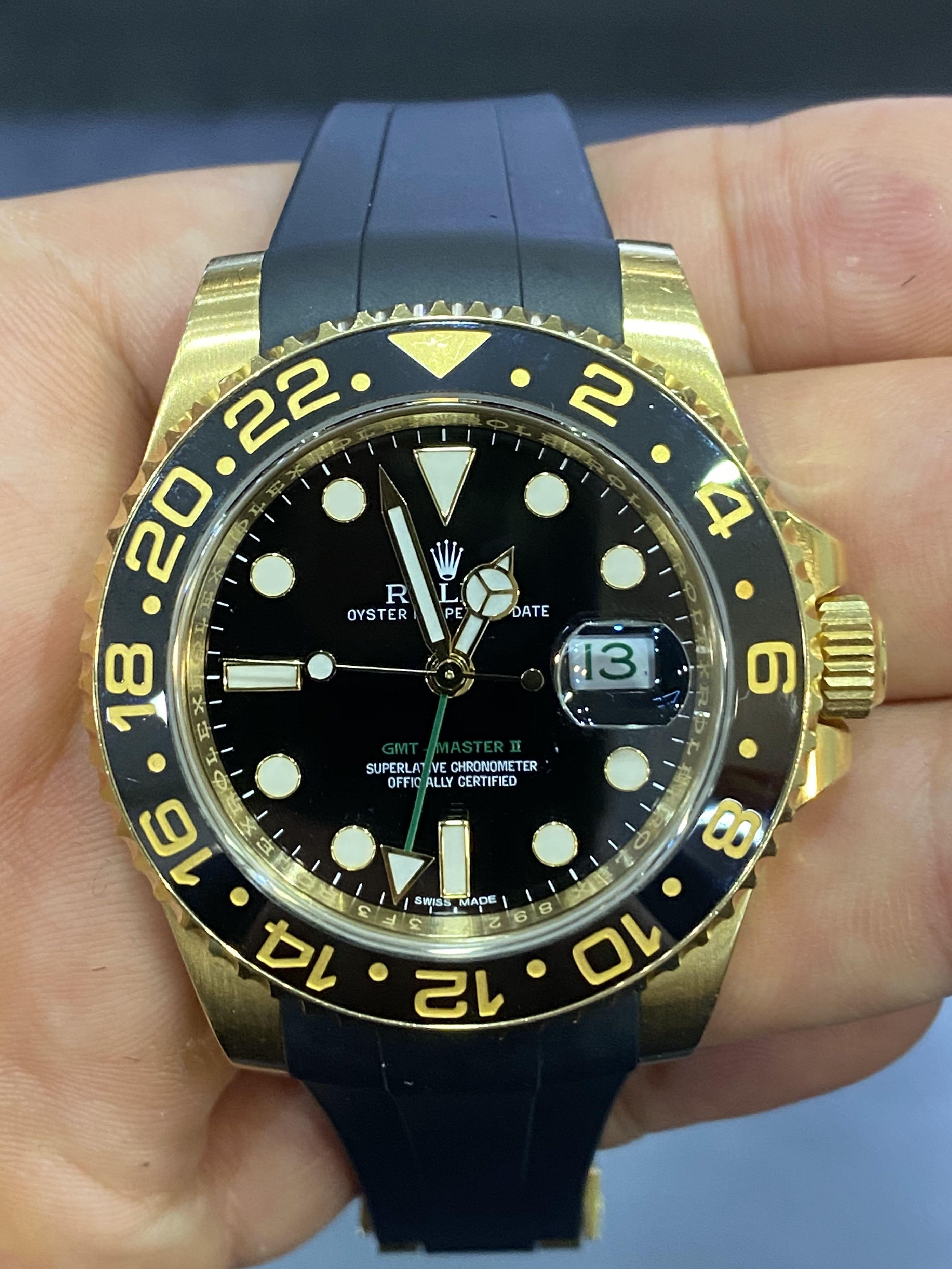 Rolex GMT Master Yellow Gold 116718LN