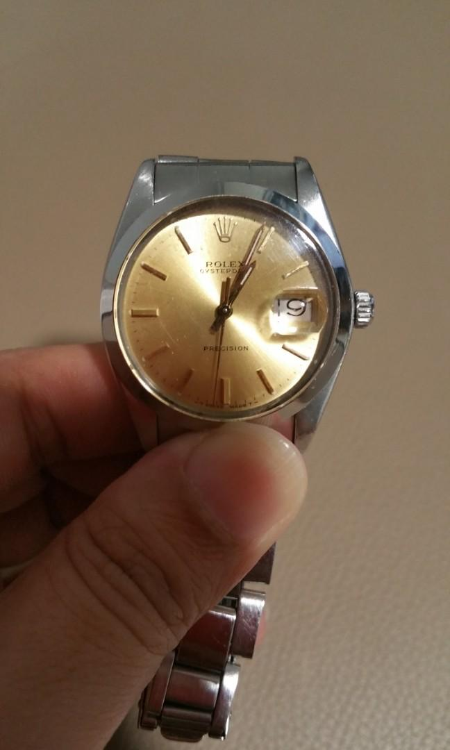 Rolex vintage 6694 rare authentic gold champagne dial to grab