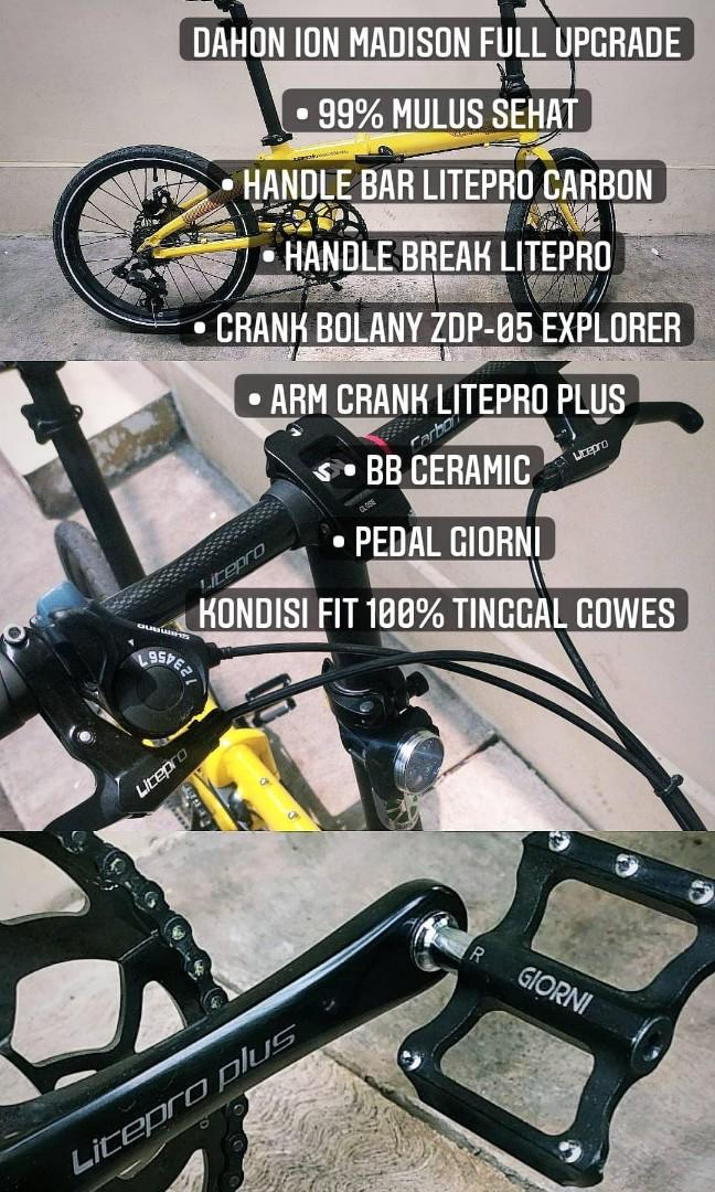 Sepeda Lipat DAHON ION MADISON full Upgrade