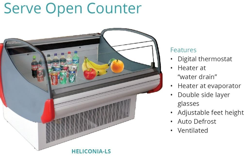 SERVE OPEN COUNTER(HELICONIA-LS-125)