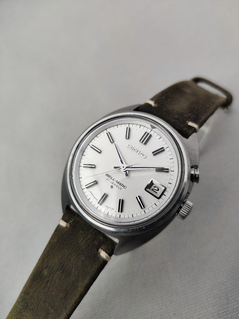 Serviced with NOS Crystal Vintage Seiko Bellmatic Mechanical Alarm Watch 4005-7000 from 1978