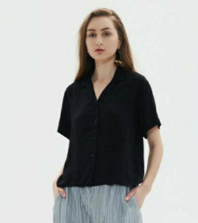 Shopatvelvet Light Shirt Black All Size - Preloved