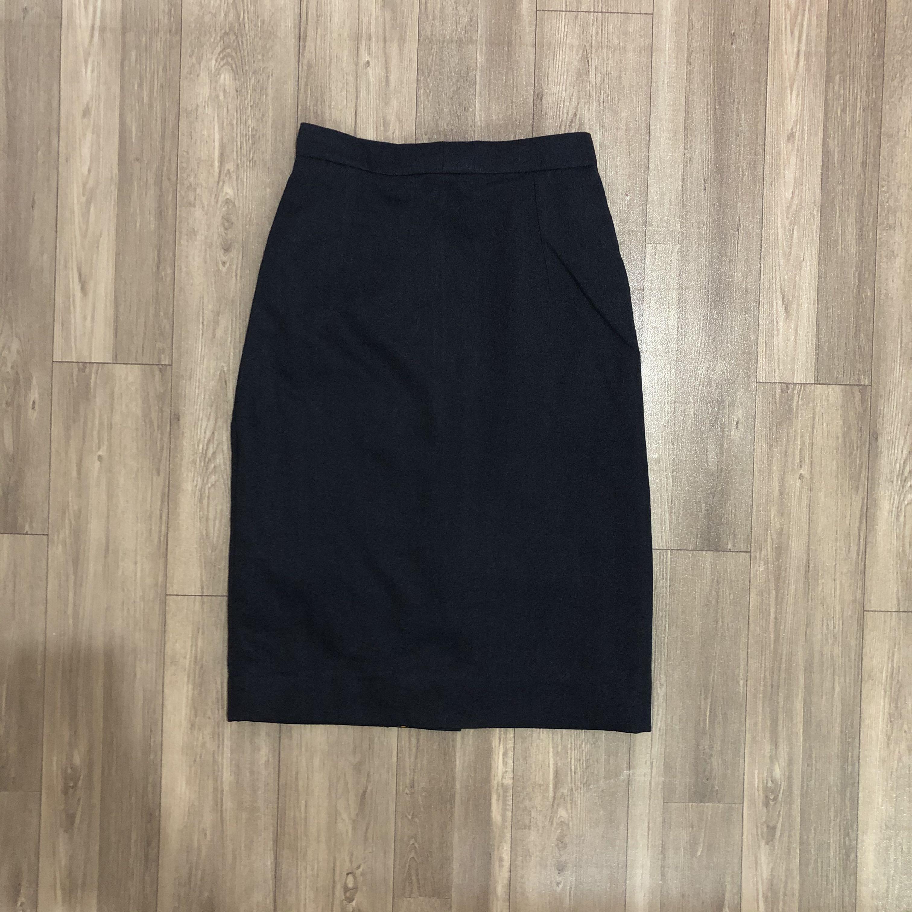 Skirt rok dark blue office formal