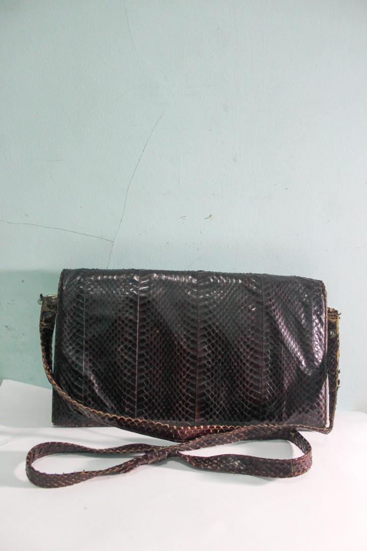 Snake Leather Sling Bag