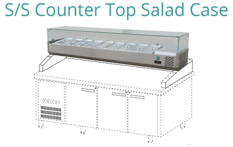 S/S COUNTER TOP SALAD CASE(STC-188)
