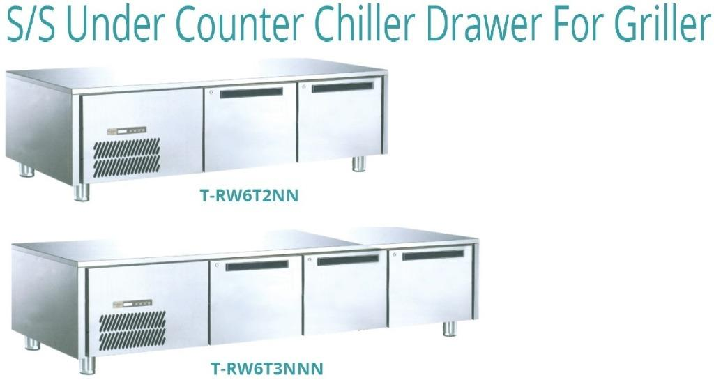 S/S UNDER COUNTER CHILLER DRAWER FOR GRILLER(T-RW6T2NN)