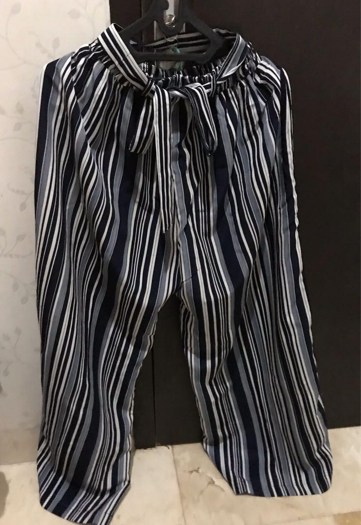 Stripe Celana Kulot Murah